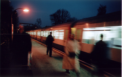 camera - pentax mx. ickenham station. f2.8, 1/4s